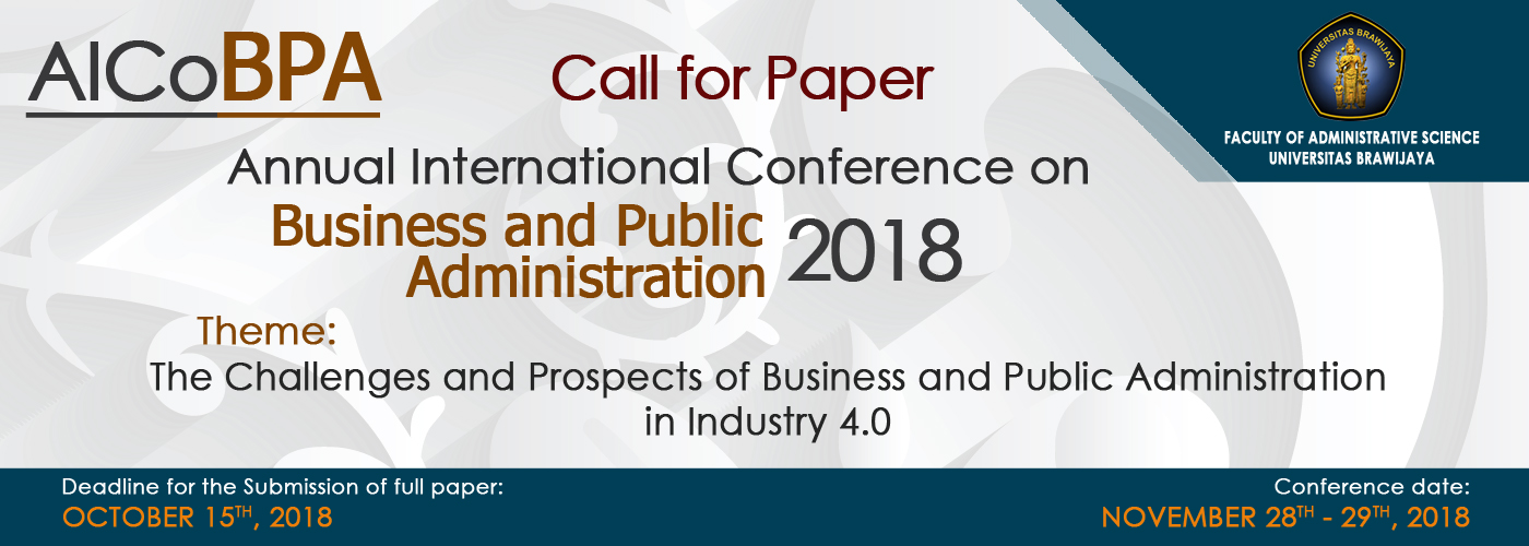 AICoBPA 2018 Call For Papers