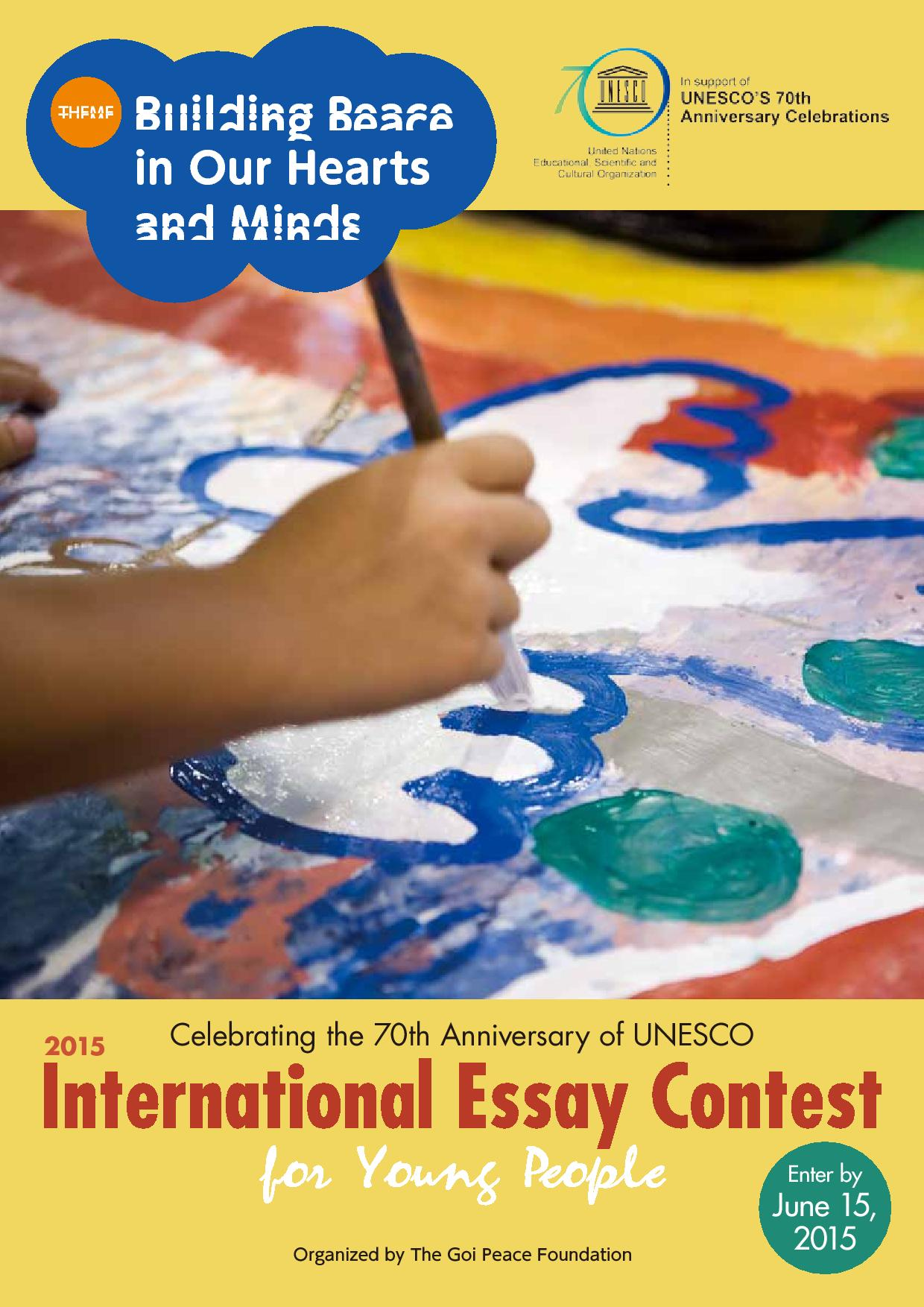 peace essay contest 2015 modesto A modesto peace/life center publication march, 2015 volume xxiii, no 7 readers sign-up for our e-edition 2015 peace essay contest awards friday, march 20.