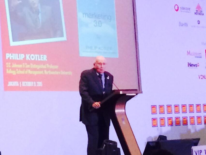 Prof Philip Kotler, pakar pemasaran dunia, menyampaikan ceramah tentang pemasaran