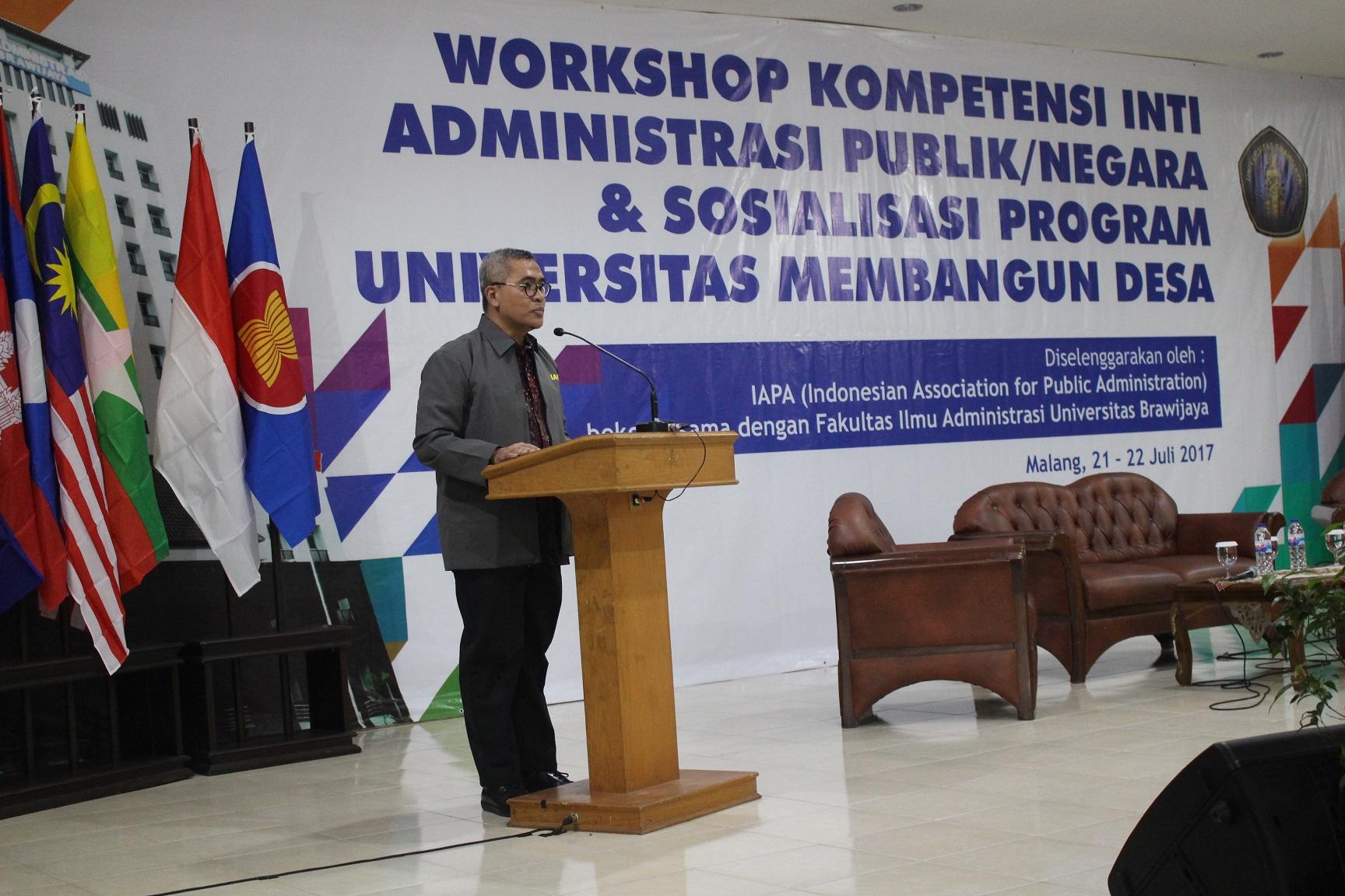 Workshop Kurikulum Inti Administrasi Publik/Negara Se-Indonesia