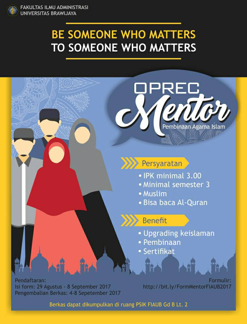 [Open Recruitment] Mentor Mahasiswa Pembinaan Karakter Berbasis Religi