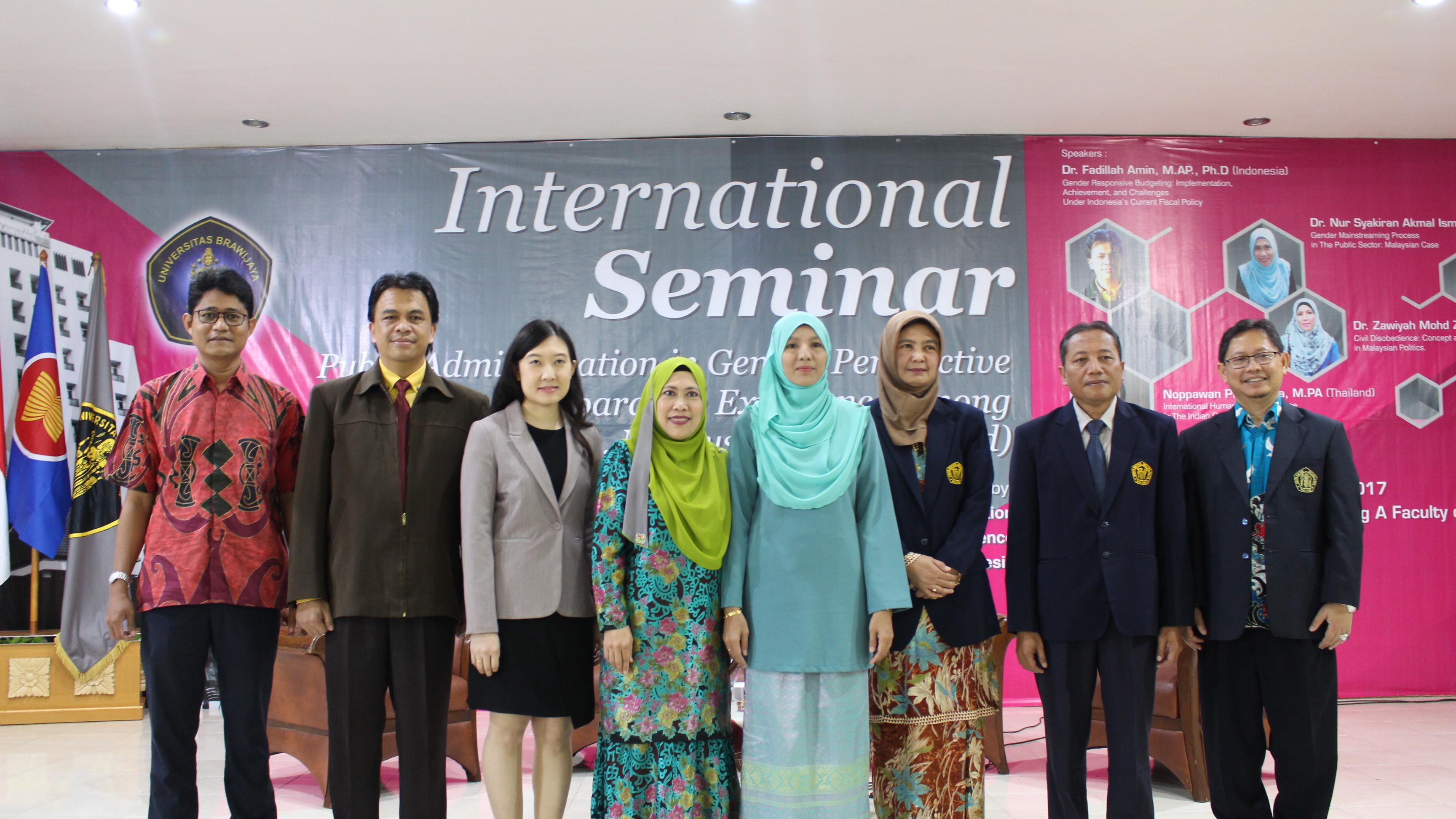 FIA UB Gelar Seminar Internasional Bahas Administrasi Publik Dari Perspektif Gender