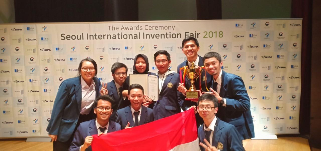 Tim UB Dapat Grand Prize Dalam Ajang Seoul International Invention Fair – SIIF 2018