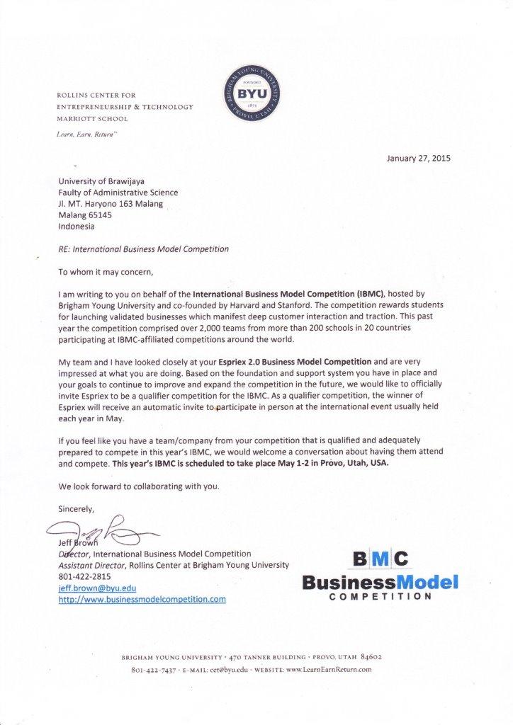 Cooperation Of Brigham Young University Harvard University And Stanford University With Business Department Of Fia Ub To Conduct International Bmc Fakultas Ilmu Administrasi