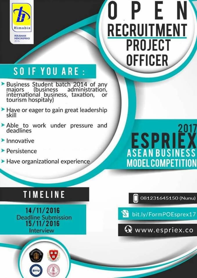 Oprec ESPRIEX 2017