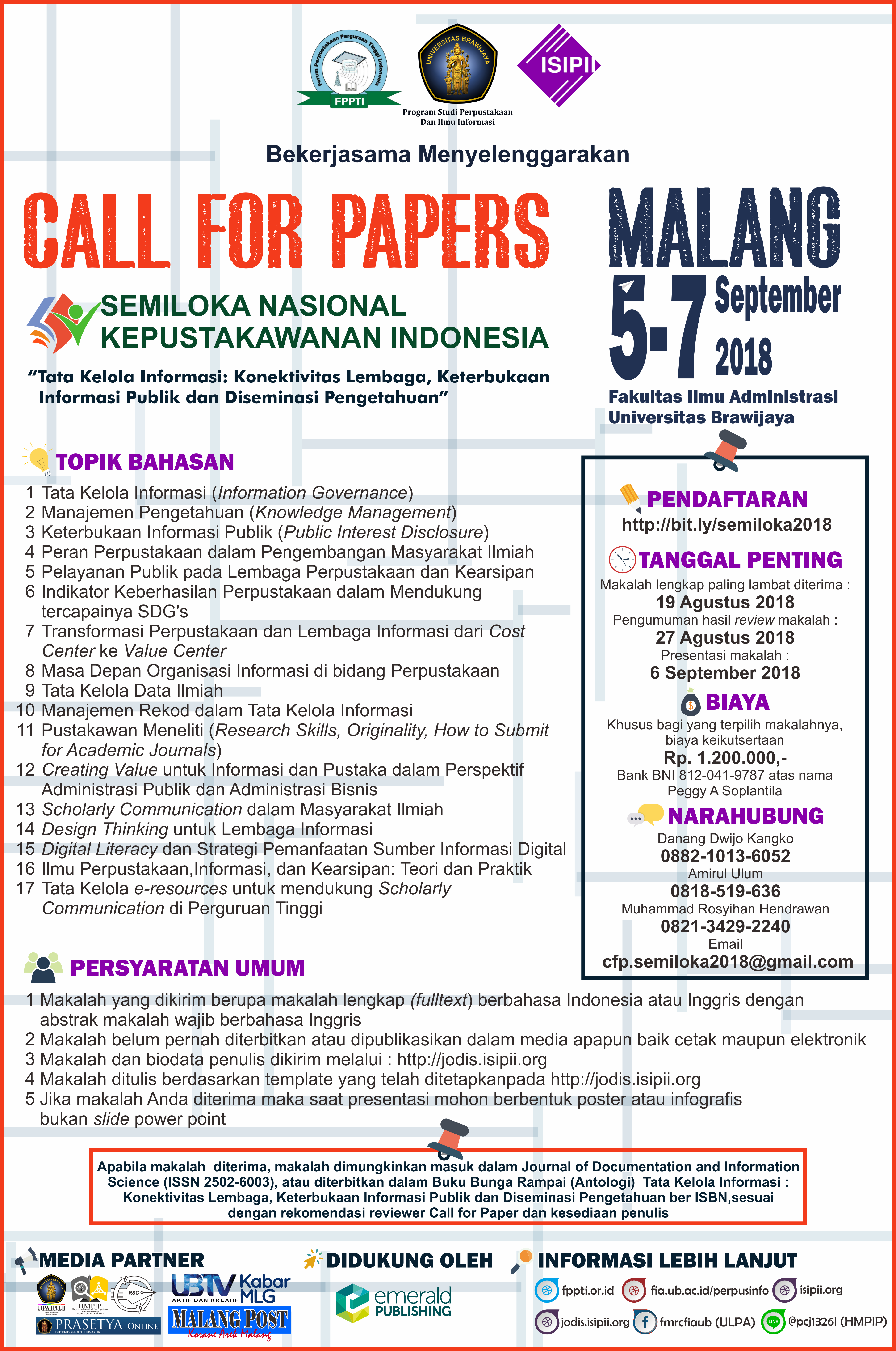 Poster Call For Papers Semiloknas 2018