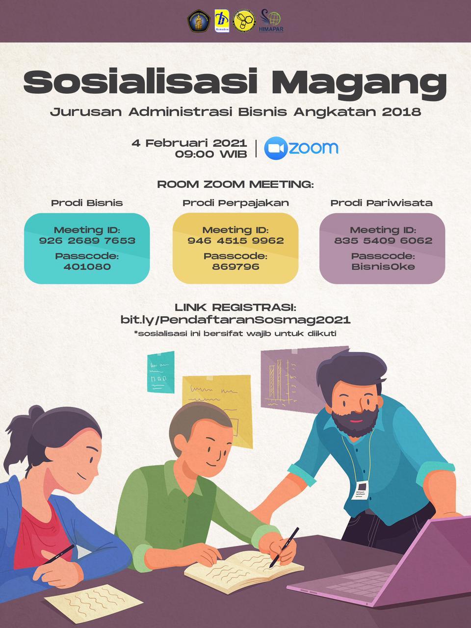 (Indonesia) SOSIALISASI MAGANG JURUSAN ADMINISTRASI BISNIS ANGKATAN 2018