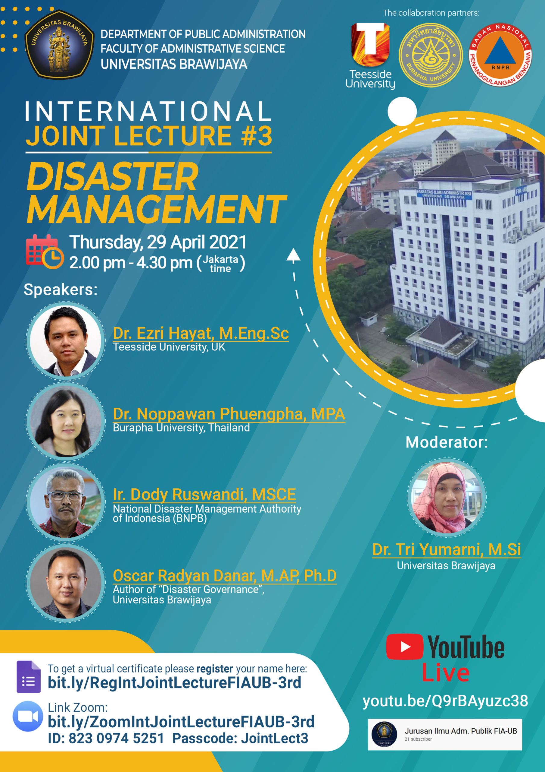 International Joint Lecturer #3 Disaster Management